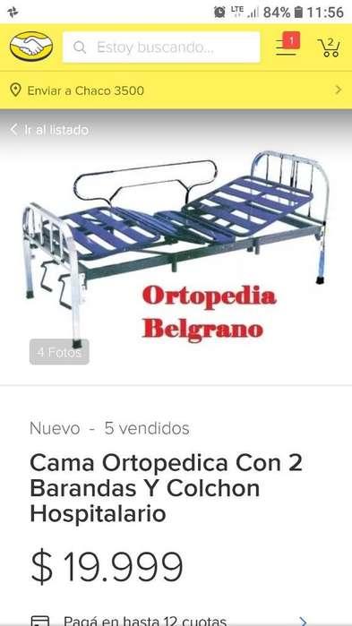 Vendo Cama Ortopédica 2 Barandas