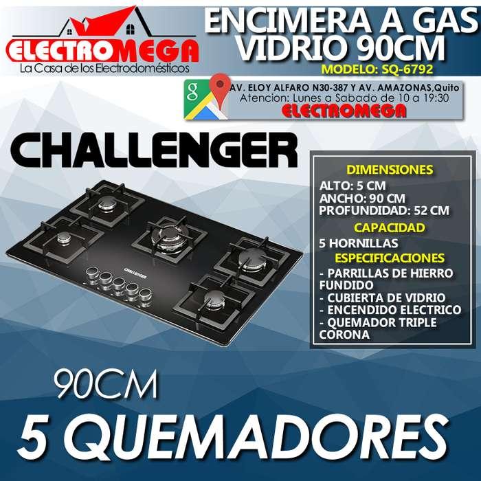 Encimera A Gas Challenger 5 Quemadores 90 Cm Nueva Sq 6792
