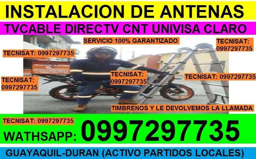 TECNICO INSTALADOR ANTENAS DIRECTV INSTALACIONES GARANTIZADA GYQ, DURAN, DAULE, SAMBORONDON...