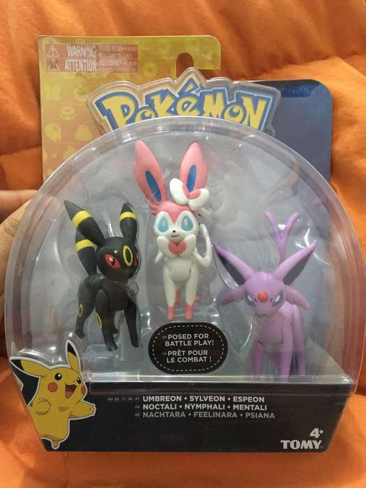 Pokemon Pack 3 Figuras Originales Exclus