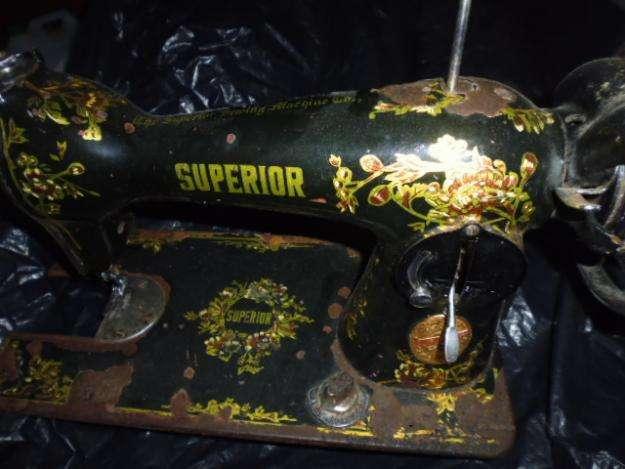maquina para coser antigua solo el cabezal ha estado mucho tiempo guardada 3122802858