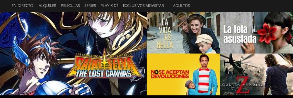 Movistar Tv Go o Movistar Play a solo 10 soles