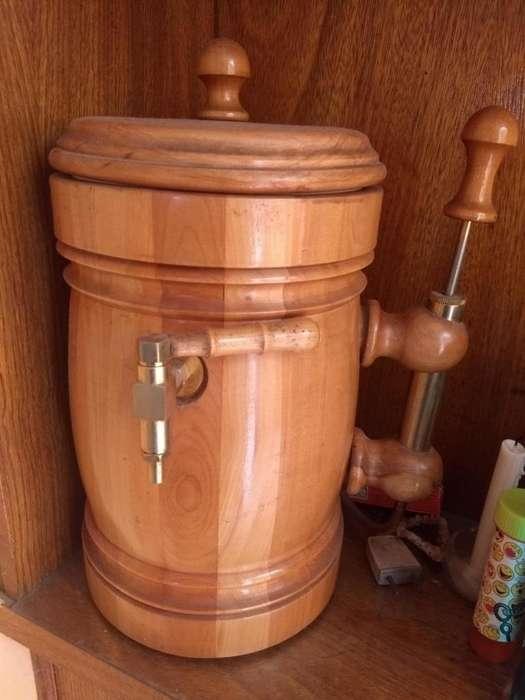 chopera de madera laqueada para 1 botella