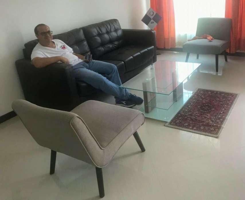 1 Mesa de Vidrio Sala2 <strong>silla</strong>s en Paño