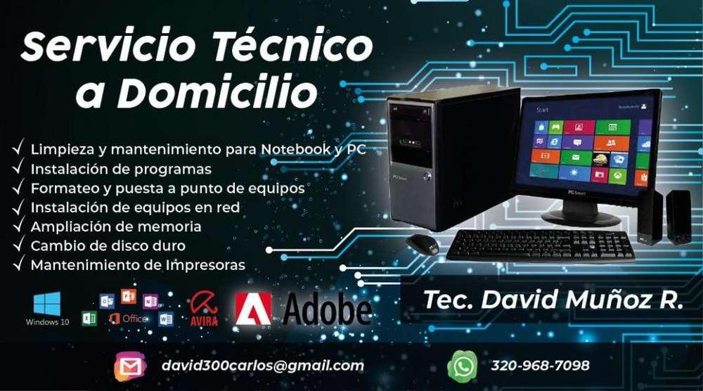 Servicio técnico a computadores a domicilio