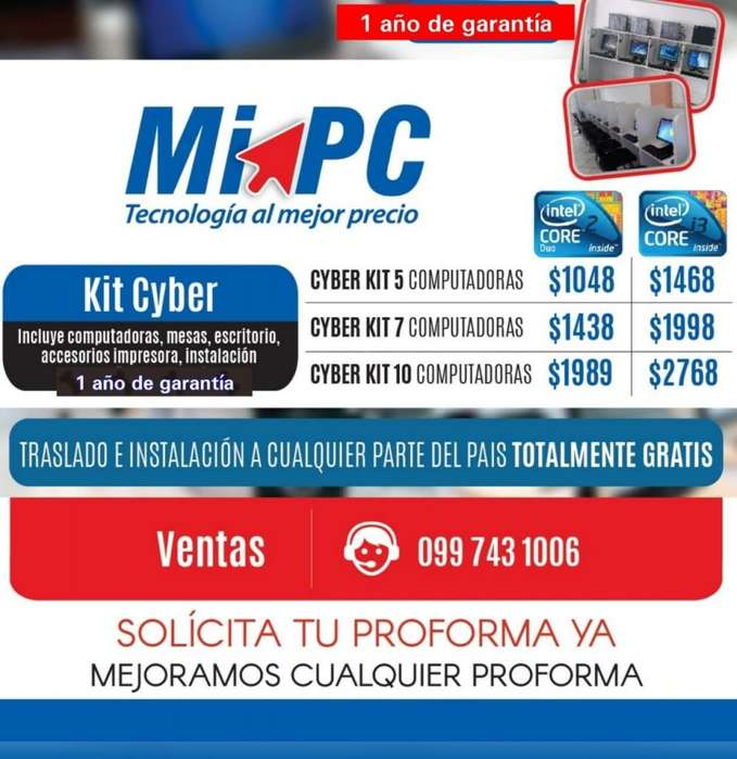 KITTS de 5 COMPUTADORAS COMPLETAS VIAJAMOS TODO EL PAIS