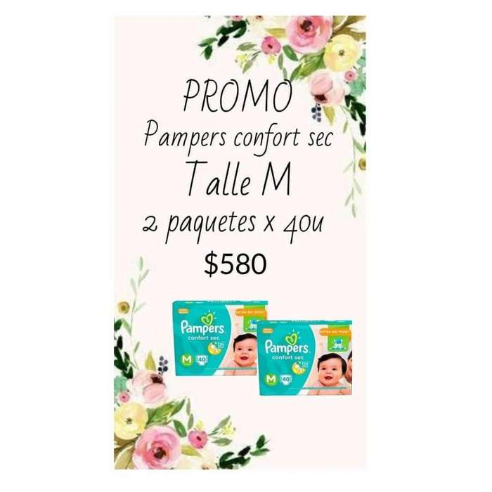 Pampers confort sec talle M