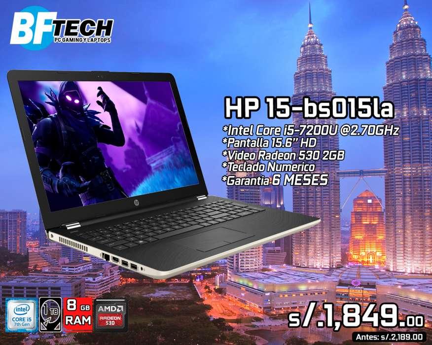 HP 15-bs015la Intel Core i5-7200U VD 2GB RADEON