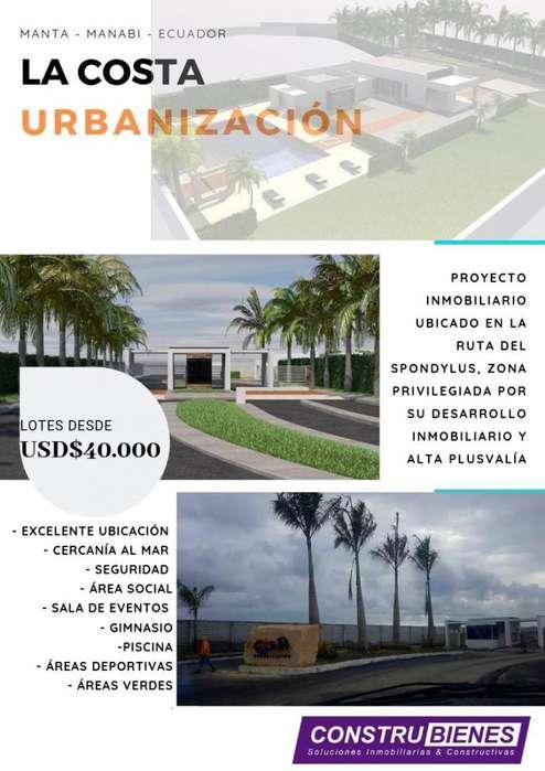 LOTES DE TERRENO EN URBANIZACIÓN EXCLUSIVA AL SUR DE MANTA MANABÍ ECUADOR