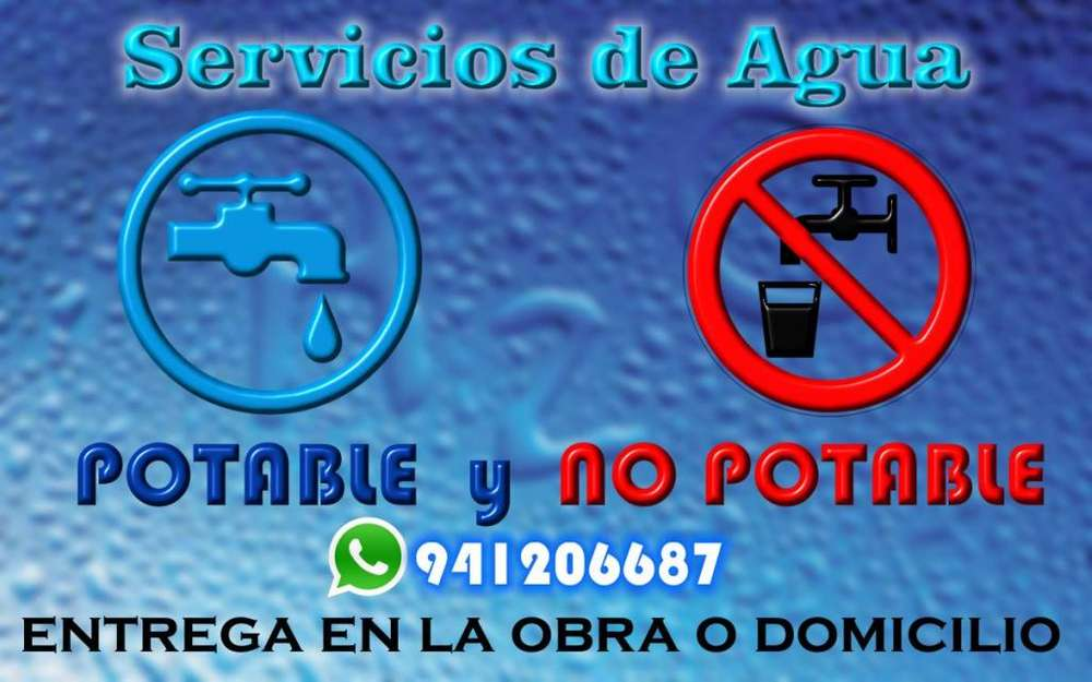 SERVICIO DE AGUA POTABLE Y NO POTABLE
