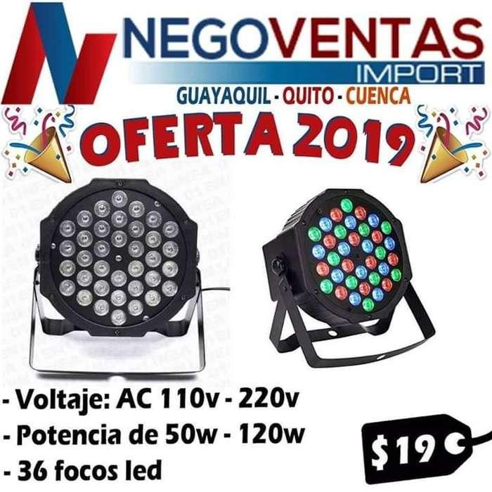 TACHO CON 36 FOCOS LED IDEAL PARA FIESTAS O EVENTOS PRECIO OFERTA 19,00