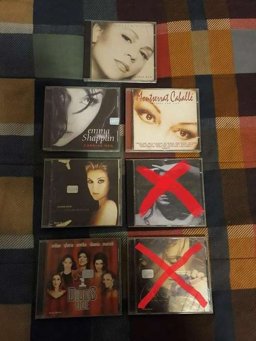 CDs Originales Celine Dion Mariah Carey Emma Shapplin Divas Live Vangelis Montserrat Caballé