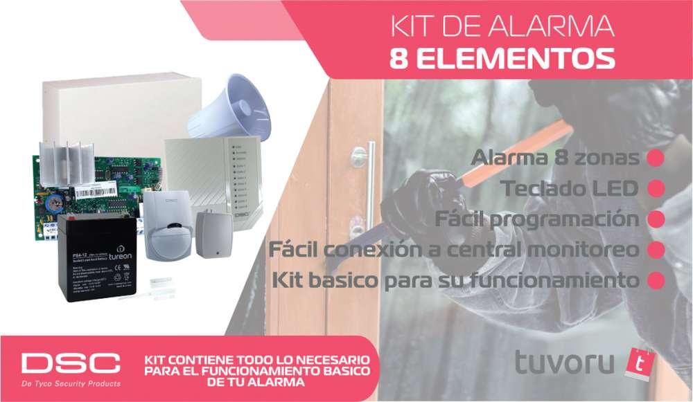Kit alarma de seguridad marca DSC 585 casa/oficina
