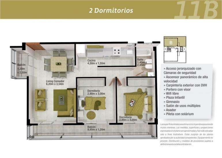 2 Dormitorio edificio Miraggio