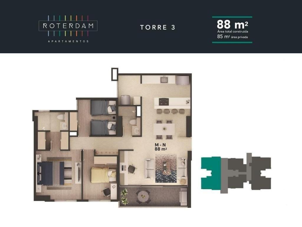 Roterdam- Apartamento Totalmente Acado
