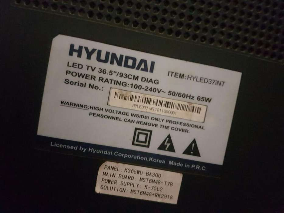 Pantalla de Tv Hyundai de 37