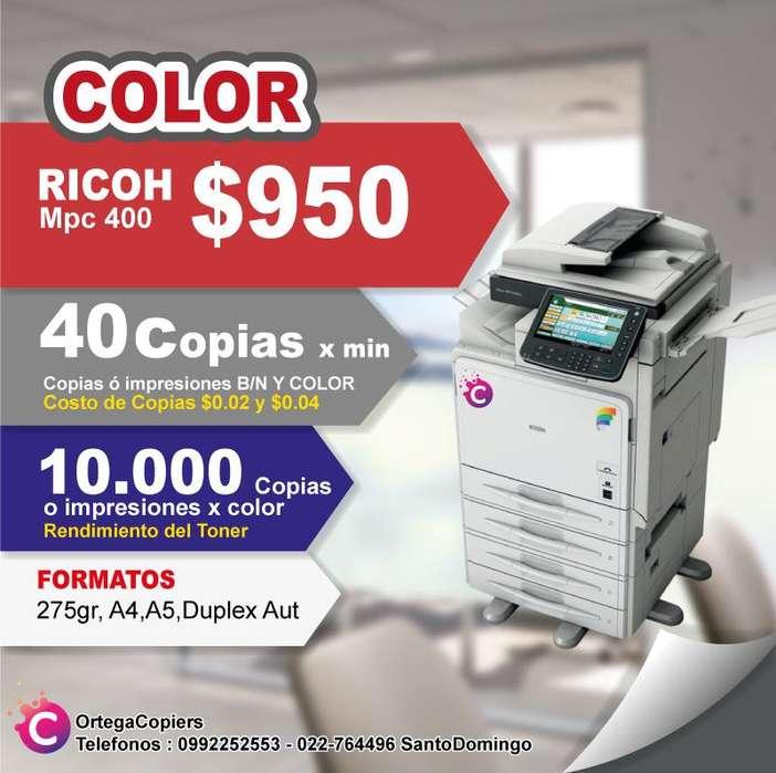 COPIADORA RICOH MPC400 OFERTA COLOR