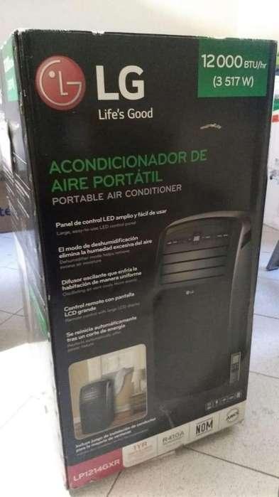 Aire Acondicionado Portatil Lg 12000 Btu Lp1214gxr Control Remoto usado