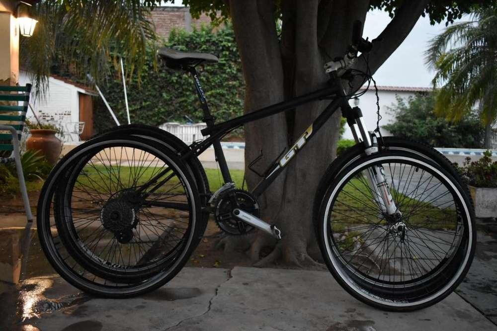 Bicicleta Mtb R26 Shimano, Susp Rst Y 4 Ruedas Completas