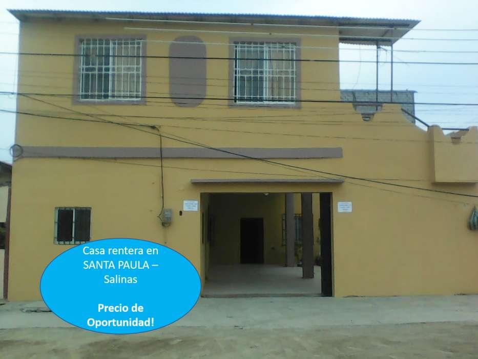 Casa Rentera en Santa Paula SALINAS Buena Ubicación, De Oportunidad