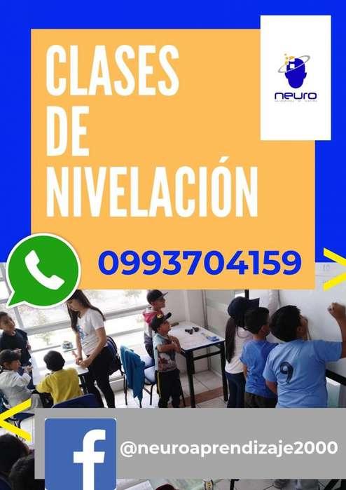 CLASES DE NIVELACION PARA NIÑOS