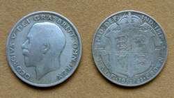 Moneda de ½ corona de plata Gran Bretaña 1907