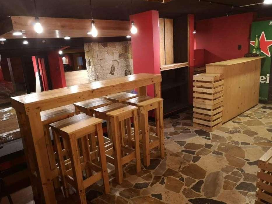 Muebles Madera - Mobiliario Negocio Café