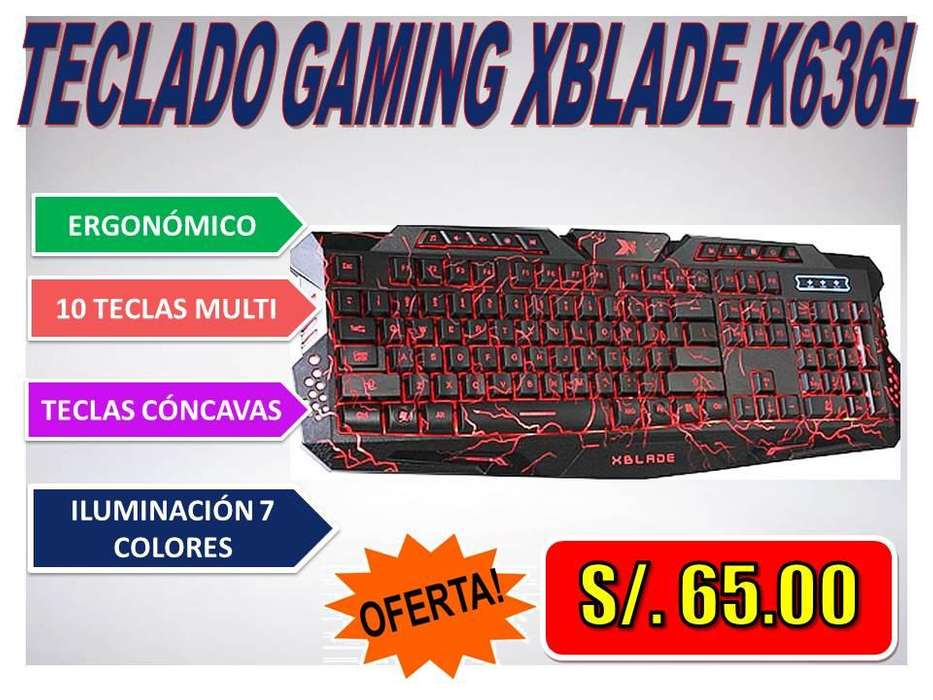 <strong>teclado</strong> GAMING XBLADE K636L