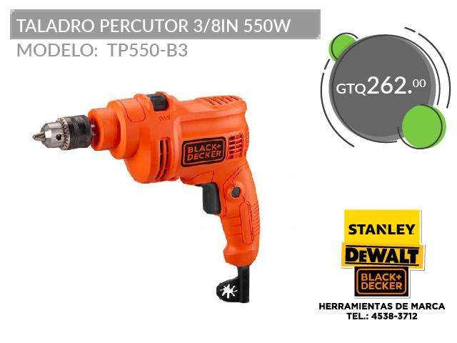 TALADRO PERCUTOR 3/8IN 550W TP550-B3