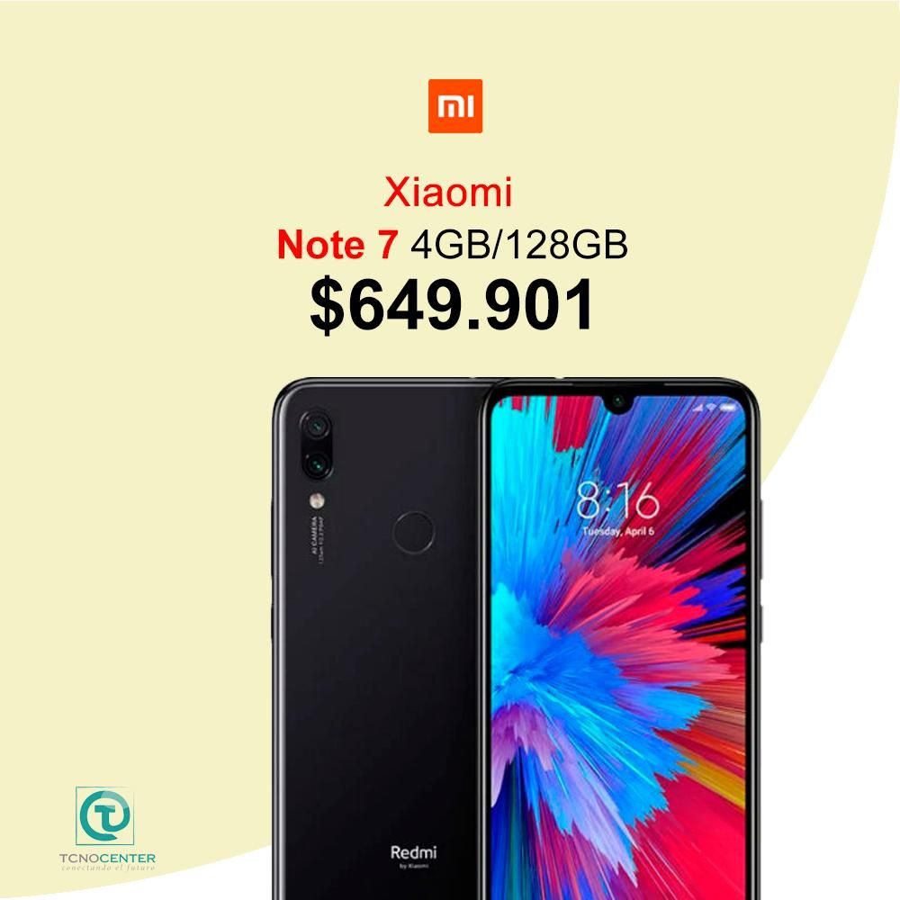 Xiaomi Note 7 de 128GB Almacenamiento, Nuevo, Sellado, SOMOS TIENDA FISICA