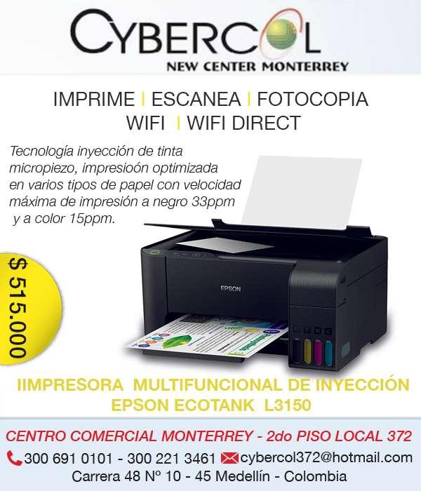 IMPRESORA MULTIFUNCIONAL DE INYECCIÓN EPSON L3150