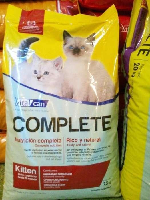Alimento Gatitos Vital Can Complete 7,5k