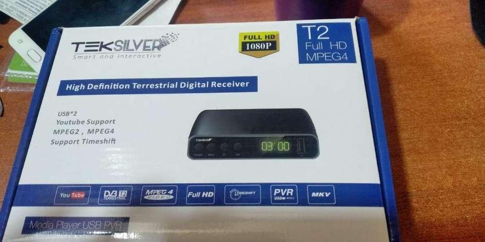 DECODIFICADOR TDT cABLE HDMI Y RCA PARA TV CONVENCIONAL con wifi