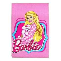 Alfombra Carpeta Infantil Rosa Barbie 42*67 Cm