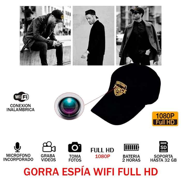 Gorra Sombrero Espía Full Hd 1080p 32gb 2h