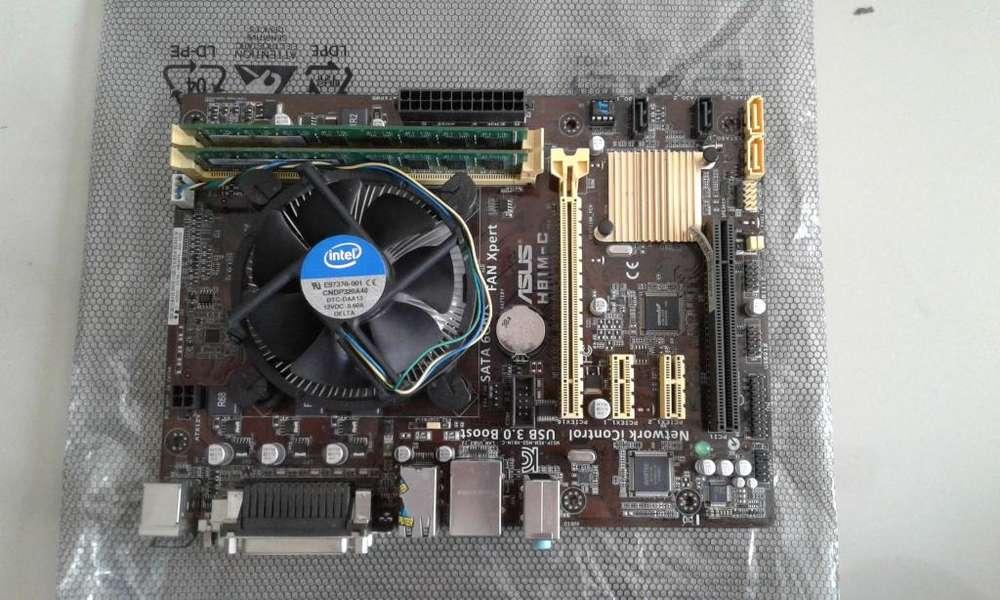Combo intel core i5 cuarta generacion mother board asus 8 gigas ram