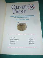 oliver twist . CHARLES DICKENS. MAC MILLAN FOR KIDS. EN INGLES LIBRO ILUSTRADO