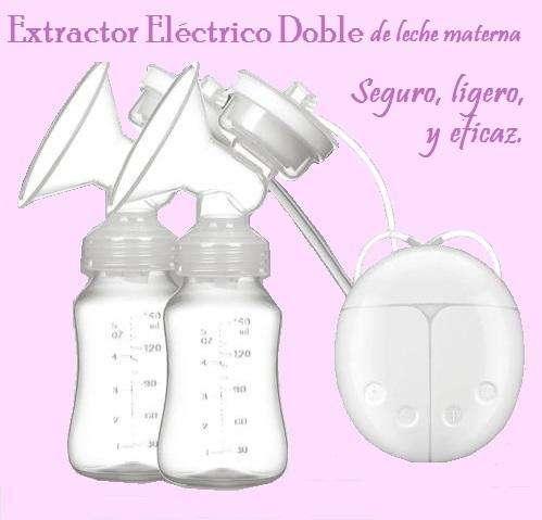 Extractor Electrico de leche materna Doble Seguro Eficaz Ligero sin BPA