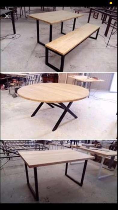 Mesa Rusticas Vintage Diseño Comedor