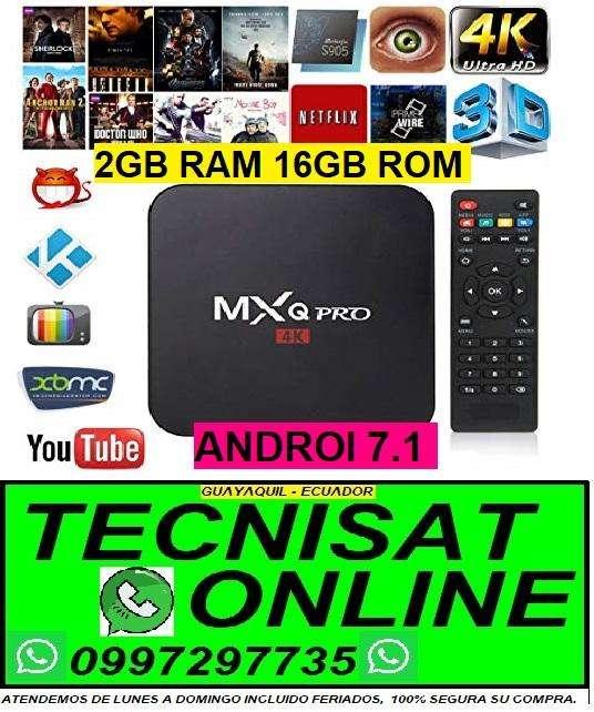 MXQ PRO 4K TVBOX 2GB RAM, 16GB ROM, ANDROI 7.1, TV BOX CONVERTIDOR SMARTV