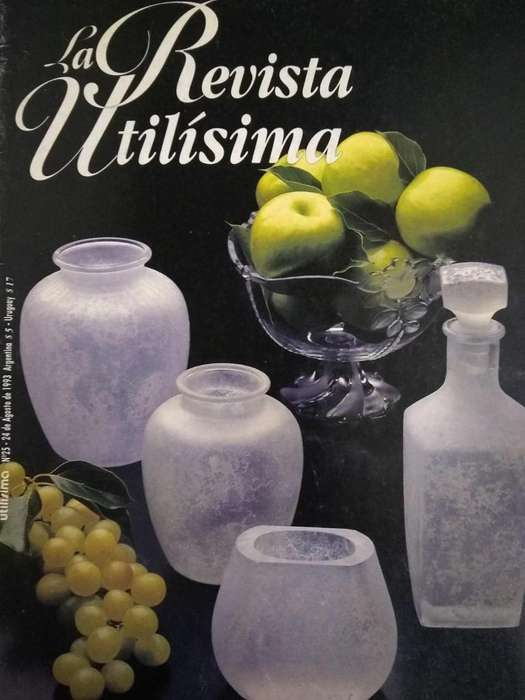 Revista Utilisima nro 25 Agosto 1993 Incluye Moldes