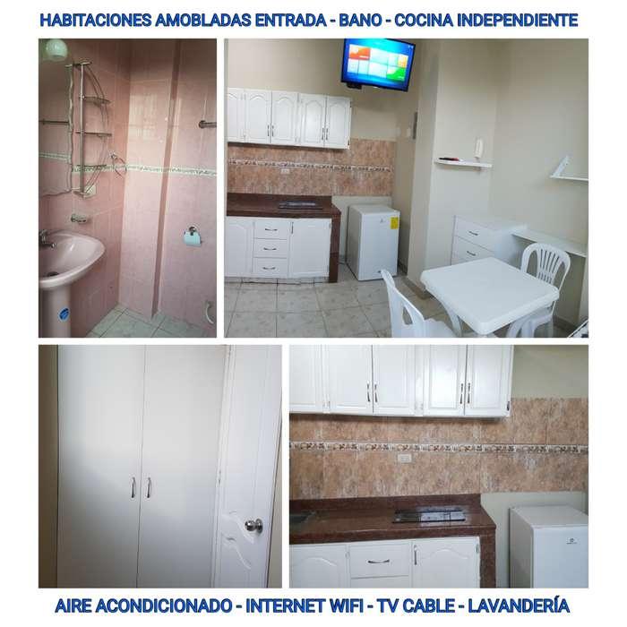 Alquiler de Mini Suite Amoblada, Zona Riocentro y Parque Samanes, Norte de Guayaquil