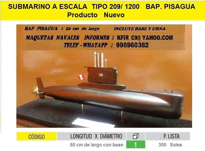 submarino tipo 209 bap angamos maqueta regalo