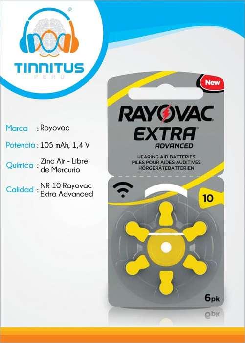 Rayovac Extra #10 Para Audífonos De Sordera