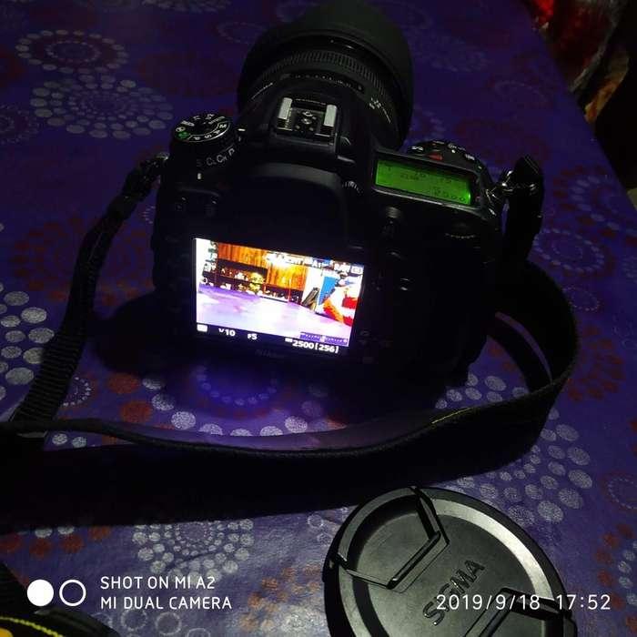 Nikon 7100 Impecable Lente Sigma 24 70 2.8 En Todo El Rango