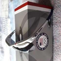 a033b0eccf ... DIA DEL PADRE Gafas Oakley Rpm Unisex Marco Plata Lentes Negros  DEPORTIVAS ...
