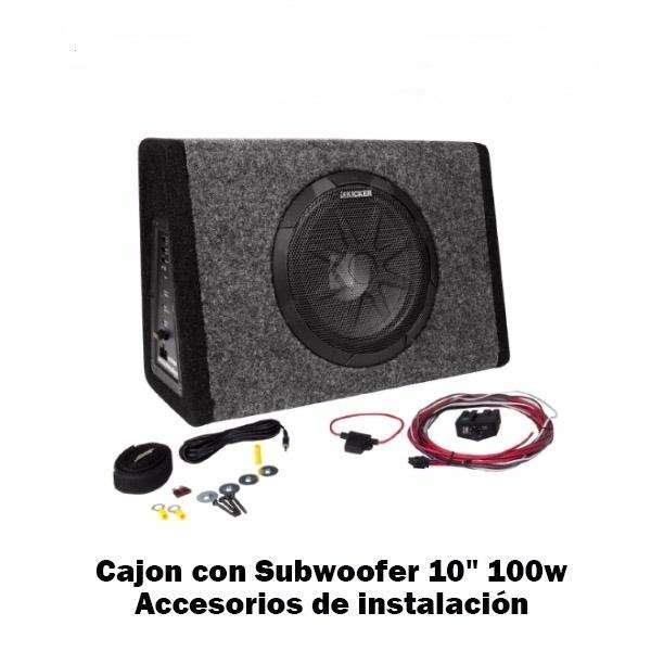 Subwoofer Con Amplificador Incorporado Kicker Pt250 100 Rms