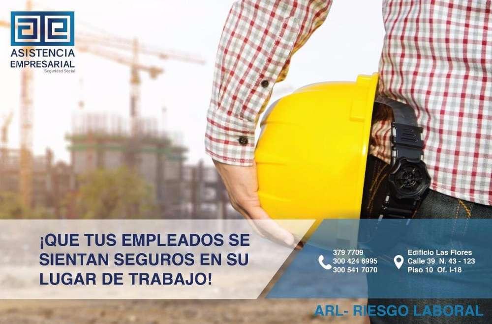 TU SEGURIDAD ES PRIMERO- EXPERTOS EN SEGURIDAD SOCIAL- AFILIACIÓN ARL HOY LLAMA 300 541 7070