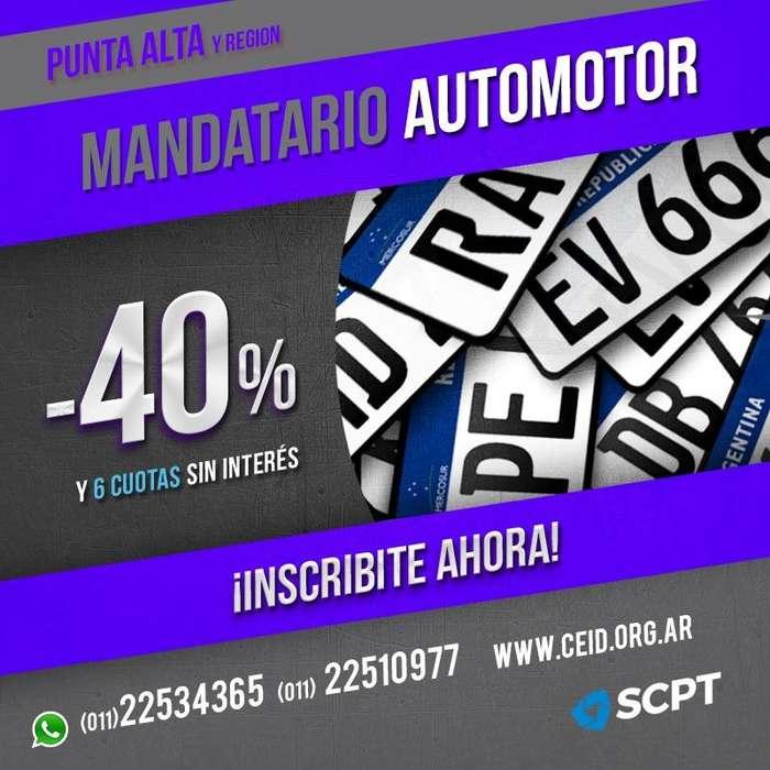 PUNTA ALTA Sea Mandatario Automotor Matricula Nacional y Oficial