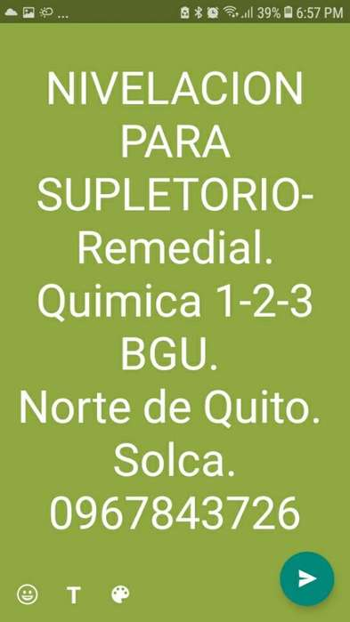 Curso Quimica 0967843726